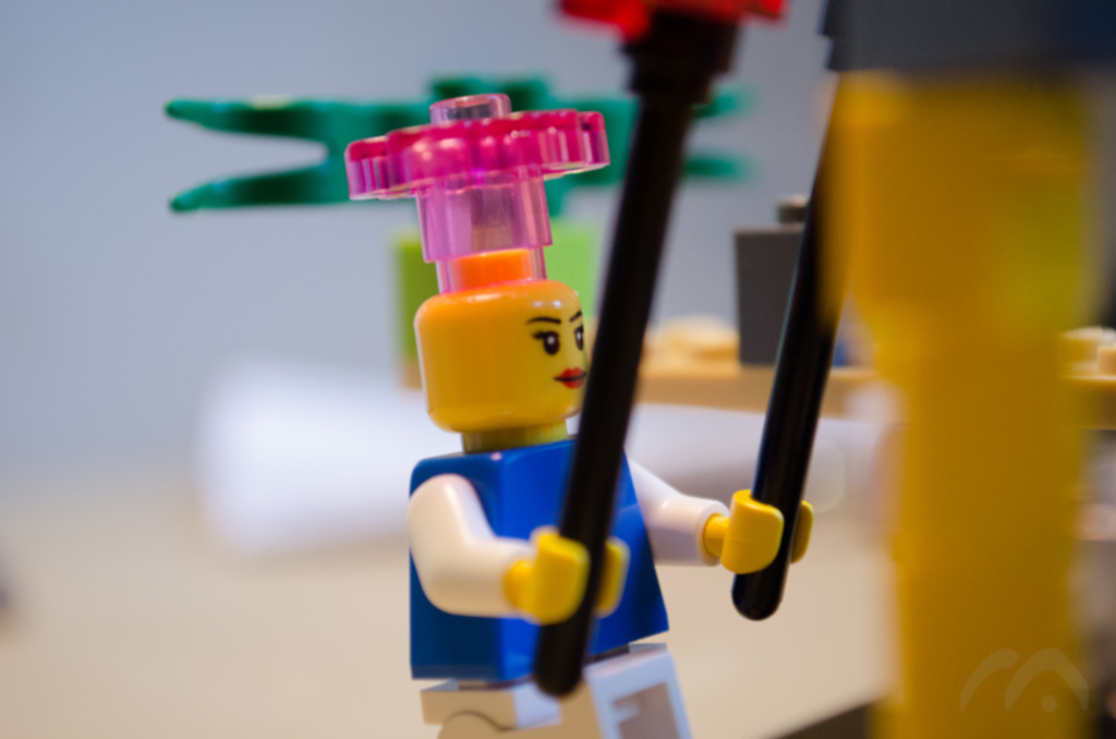 LEGO man carrying things